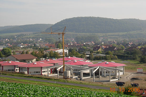 construction progress in Hammelburg